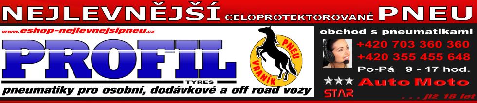 Nejlevnější pneu - eshop - levné pneumatiky - protektory Vraník